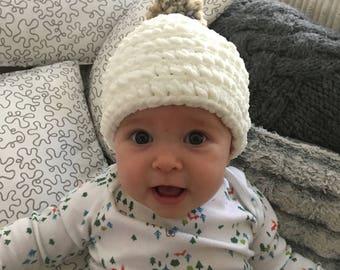 Baby Hat, Crochet Hat, Supersoft, Chunky Knit, Baby Shower, Gift for Baby, Newborn Gift, BitsandBobblesbyAmy