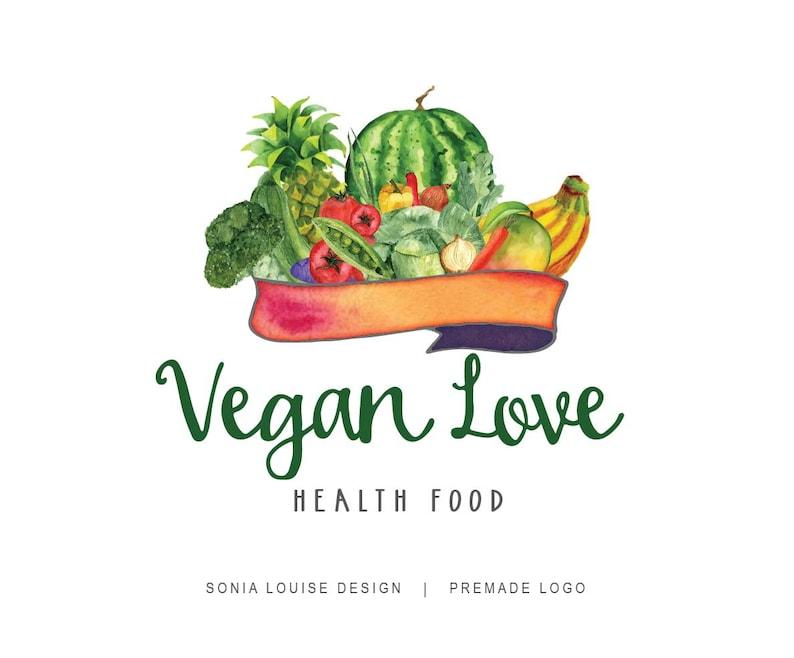 Vegetables logo, Fruits logo, vegan logo, organic food, health food, Farm,  Premade Logo Design, Logo 18