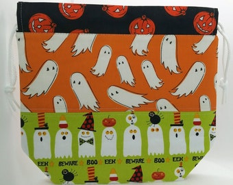Boo Patchwork Drawstring Project Bag