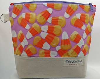 Zippered ~ 'Candy Corn' Project Bag