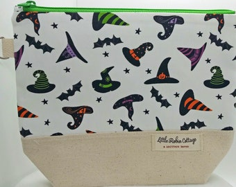 Zippered ~ 'Flying Hats' Project Bag