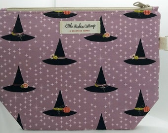 Zippered ~ 'Witchy Hats' Project Bag