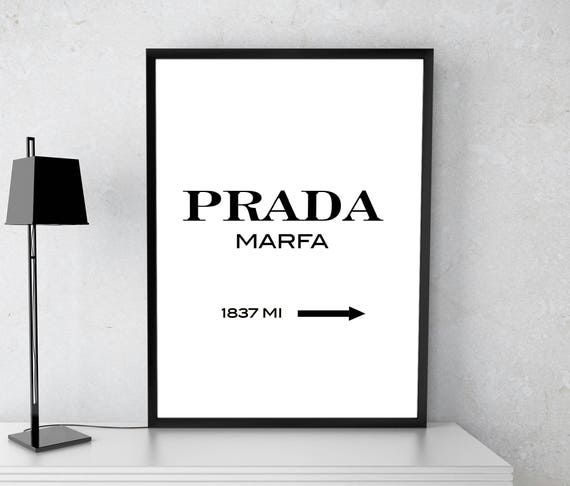 Prada poster Prada Marfa print Modern print Fashion print | Etsy