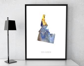 Idaxo poster, Idaxo art, Idaxo map, Idaxo print, Gift print, Poster