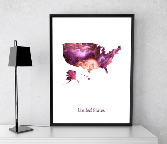 United State poster, America poster, US art, US map, US print, Gift print,  Poster
