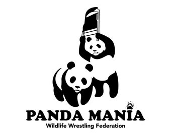 f1ca3b214cb58a Panda Mania WWF WWE Animal Wrestling Funny Top T-Shirt 100% Cotton Unisex  Tshirt New Without Tags