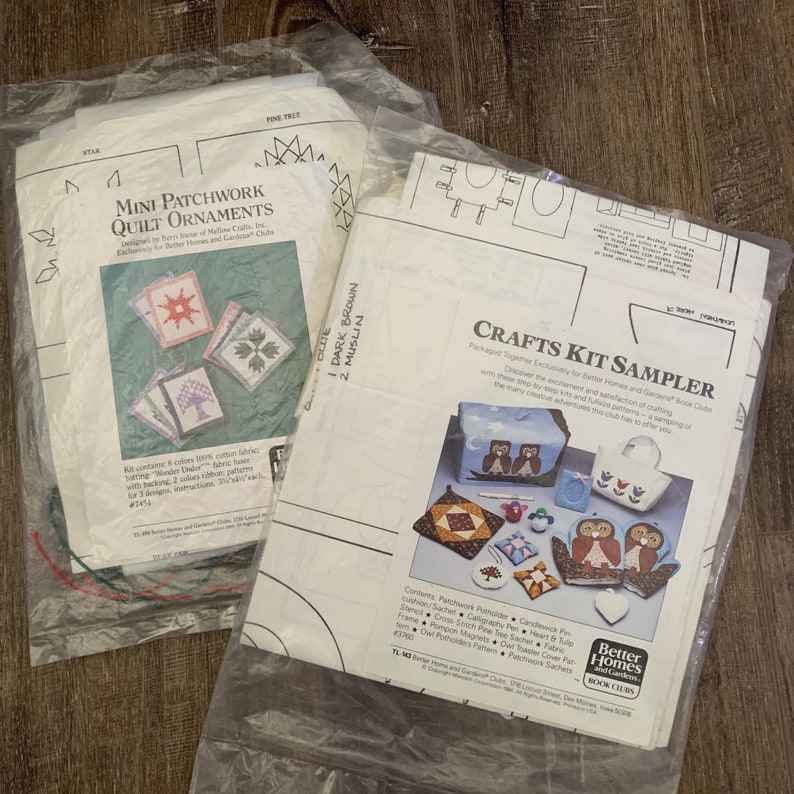 Easy Sewing Kit and Instructions Assorted Sewing Kits Vintage Better Home and Garden