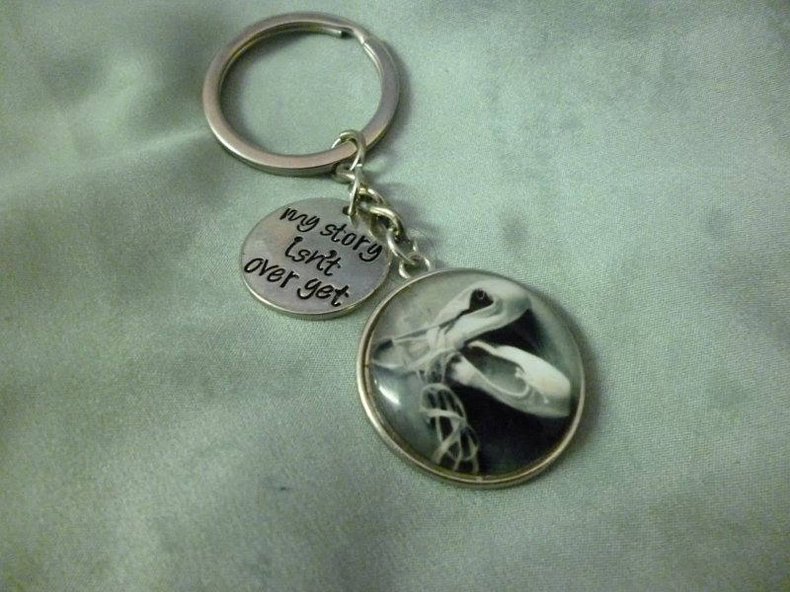 ballet dancing shoes my story isn't over keyring