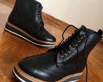 Leather fashion armbit boot