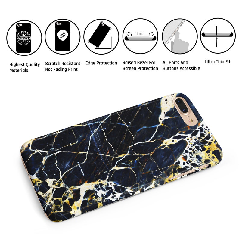 69d4a99880 Royal Blue Cracked Marble Phone Case For iPhone XS Max iPhone | Etsy