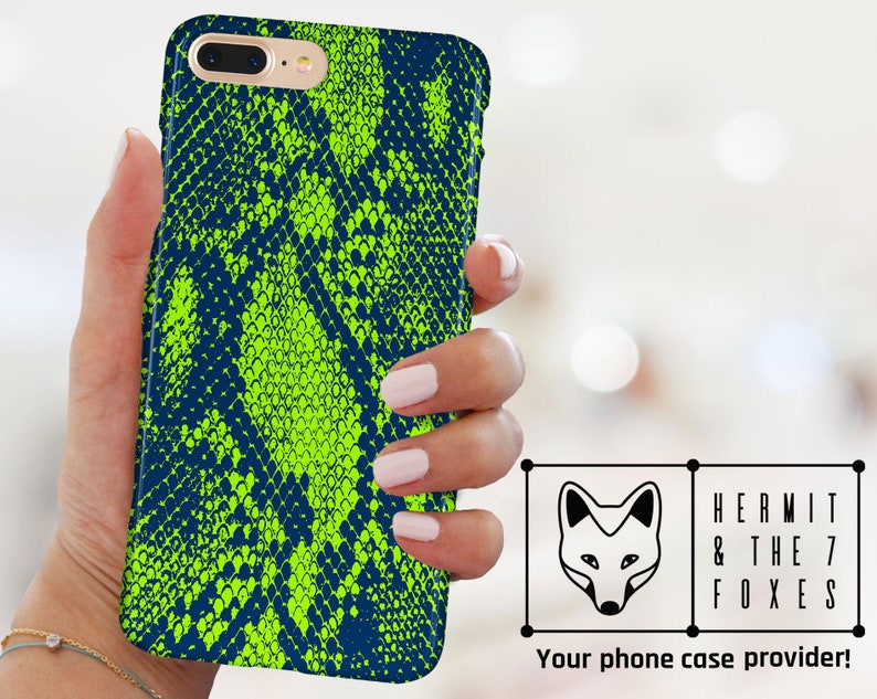 Snake Skin Scales Green Animal Print Phone Case Snake For iPhone XS Max &  iPhone XS iPhone X iPhone 8 iPhone 7 Iphone 6 Samsung S8/S7/S6
