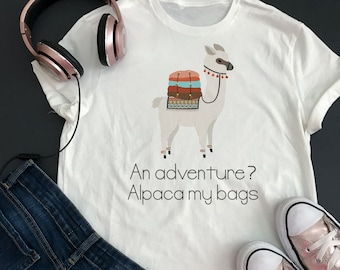 Alpaca adventure shirt women, Alpaca gift, Alpaca lover gift, Alpaca tshirt Alpaca shirt Alpaca t-shirt for girls Alpaca tee shirt for women