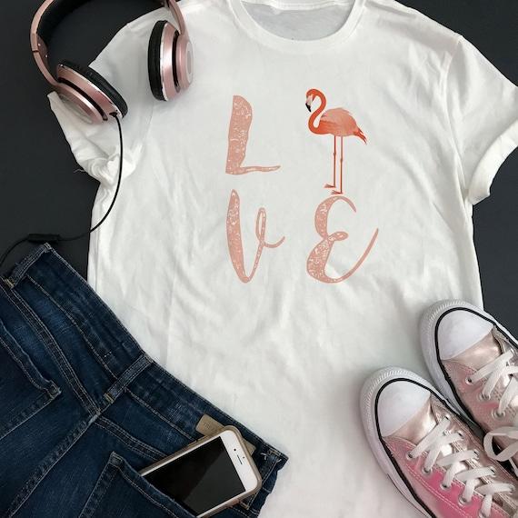 Pink Flamingo  Denim and  Matching Tshirt    All Sizes
