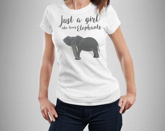 Niedlichen Elefanten Shirt Frauen, Elephant T-shirt für Mädchen, Elefanten-t-Shirt für Frauen, Elefanten-Geschenk, Safari-Hemd, Elefant-Liebhaber-Geschenk