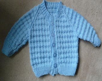 Handcrafted Baby boy's cardigan/jacket 3-6 months