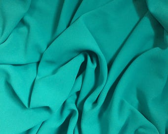Lake Blue Creped Double Cloth