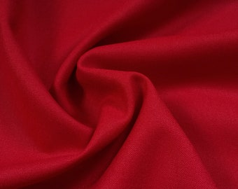 Lipstick Red Italian Viscose-Polyester Suiting
