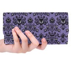 Haunted Mansion Wallet, Womens Wallet, Disney Gifts, Haunted Mansion Women s Trifold Long Clutch Wallet, The Haunted Mansion Wallpaper