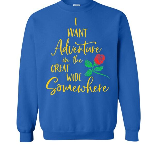 Disney Shirt Disney Sweatshirt Beauty And The Beast Etsy
