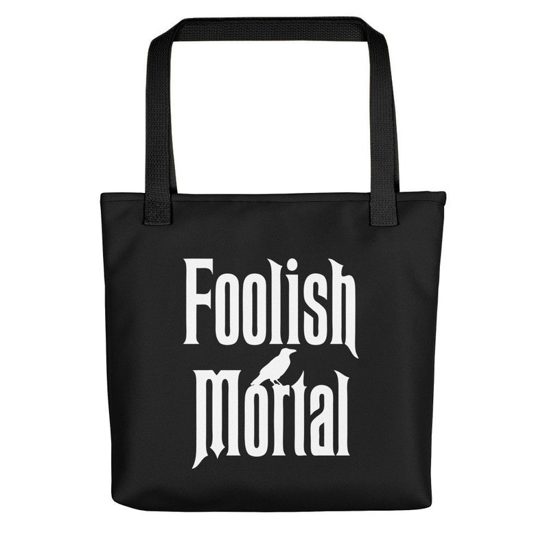 Trick or Treat Bag Canvas Tote Bag Haunted Mansion Haunt Mansion Haunted Mansion Bag Disney Bag Canvas Bag Halloween Bag Disney World
