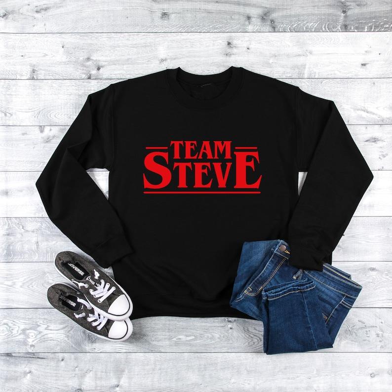 Stranger Things Sweatshirt, Stranger Things, Shirt, Netflix, Demogorgon,  Stranger Things Birthday, Steve Harrington, Stranger Things 3, Gift
