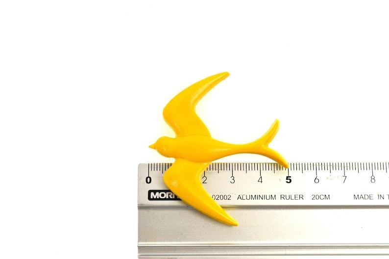 Handmade and Handpainted Vintage Inspired Swallow Bird Brooch