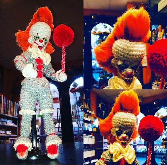 Handarbeit häkeln gruselige Clown Puppe inspiriert von | Etsy
