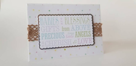 Babies Are Blessings New Baby Congratulations Card Etsy