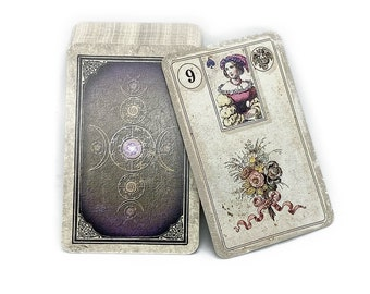 Reprint antique Dondorf Lenormandcards from 1880 in 3 different finishes by Spirit of Elements.