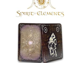 Spirit of Elements Lenormand Cards / Spirit Golden Epic with Skat Cards