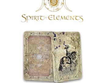 Spirit of Elements Lenormand Cards / Old Black Vintage with Skat Cards