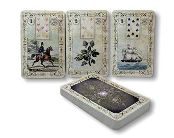 Dondorf Lenormand cards Reprint from 1910 and 1880 Design : Fleur de Lille by Spirit of Elements.