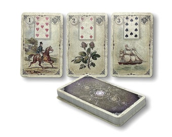 Dondorf Lenormand cards Reprint from 1880 Design : Old Spirit Vintage by Spirit of Elements.