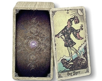 Tarot cards Smith-Waite antique reprint from c. 1915 Design: Old Spirit Vintage by Spirit of Elements.