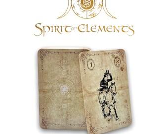 Spirit of Elements Lenormand Cards / Spirit Vintage Epic with Skat Cards