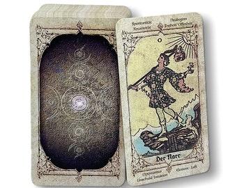 Tarot cards Smith-Waite antique reprint from c. 1915 Design Old Viktorian Vintage with interpretation keywords by Spirit of Elements.