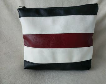 Striped Travel Cosmetic Bag