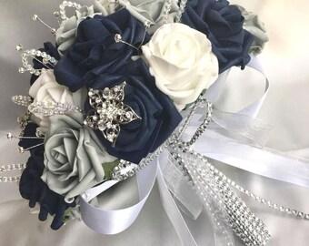 Navy Blue Bouquet Etsy