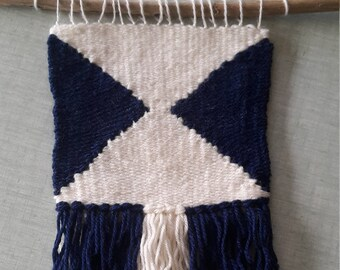 Handmade wall hanging / symmetrical triangles wall hanging / hand woven / wall decor / home decor