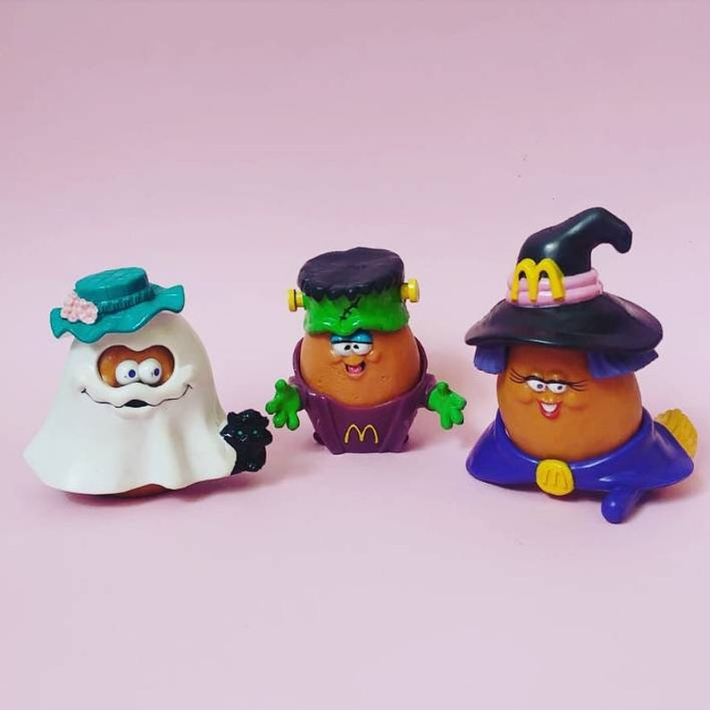 3 set McNugget Witchie Witch Frankenstein Ghost Happy Meal toy McDonalds