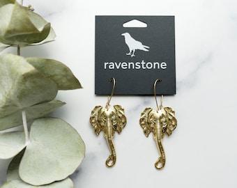 NEW RELEASE | The Golden Elephant Earrings | ravenstone