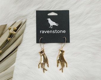 The Golden Hand Earrings // ravenstone earrings // made in the usa // nickel free jewelry