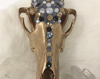 painted & jeweled skull
