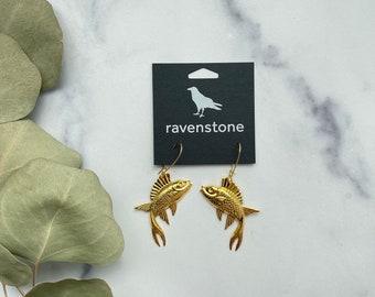 LIMITED EDITION | The 24K Golden Fish Earrings | ravenstone