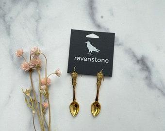 LIMITED EDITION | The Little 24K Golden Spoon Earrings | ravenstone