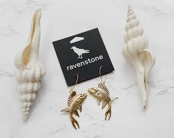 The Golden Fish Earrings | ravenstone