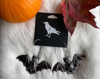The Midnight Bat Earrings | ravenstone