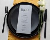 Limoncello Menu - Printed Design - Table Setup - Personalised Menu - Customised Menu