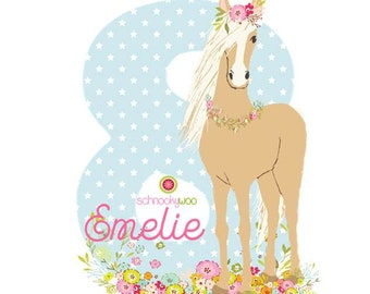 BÜGELBILD Wild Pony, Iron Horse, Ironing Picture Birthday Pony, Iron On Birthday, Iron On Pony