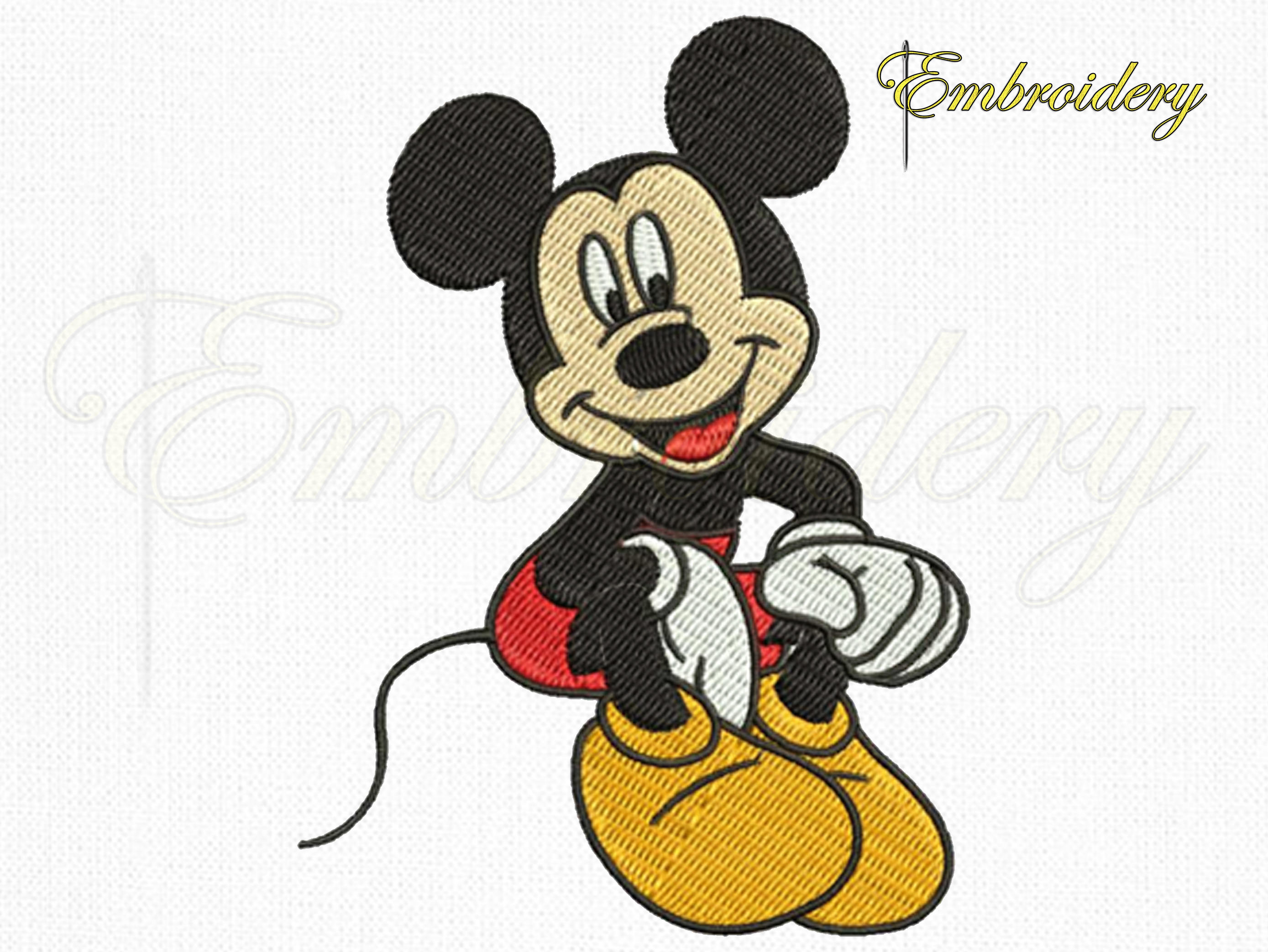 Disney Mickey Mouse Embroidery Design Disney Embroidery Etsy